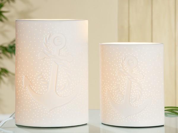 Porzellan Lampe Anker