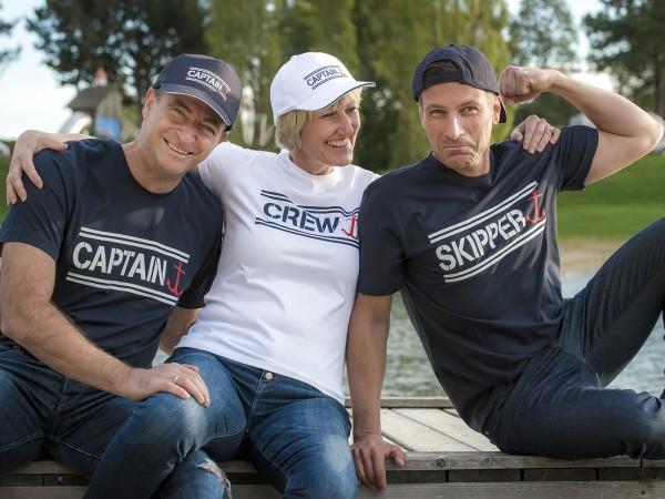 T-Shirt Captain, Crew & Skipper
