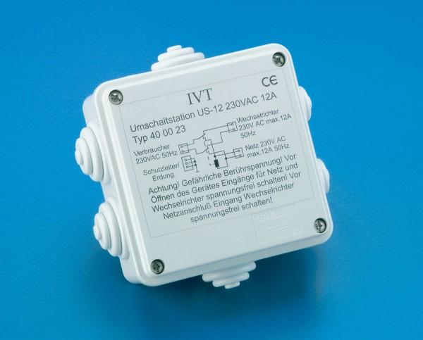 Automatischer 230 V Umschalter zur Umschaltung zwischen Wechselrichter und Landstrom