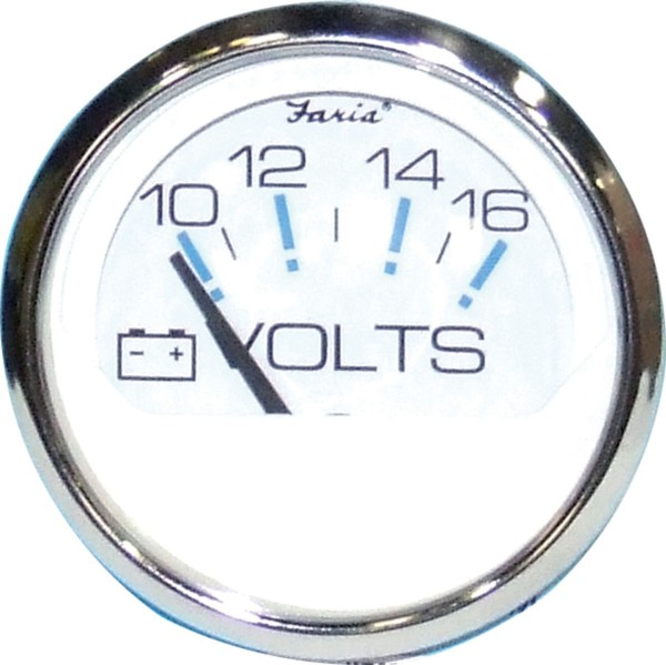 Faria Voltmeter 10-16 V