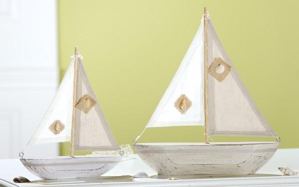 Deko-Segelschiff Holz