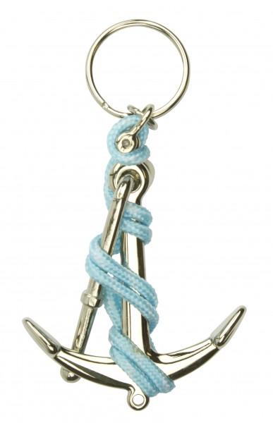 Schlüsselanhänger Anker chrom