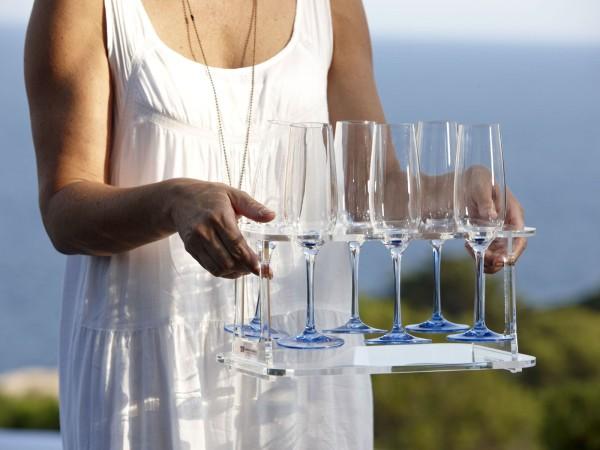 Wein-Sektglashalterung