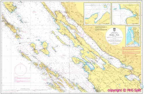 Seekarte Kroatien