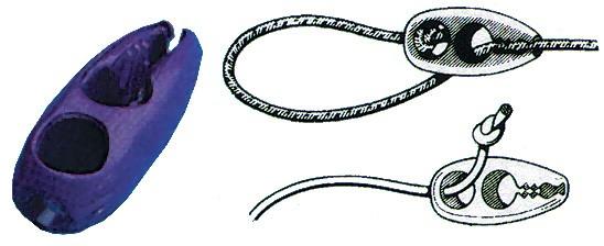 Schnellverschluss für Gummileine
