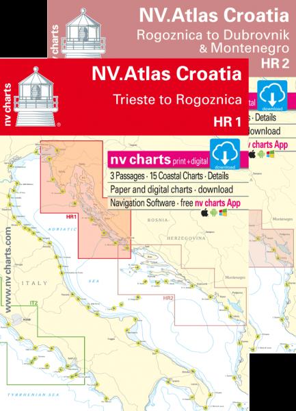 NV Seekarten Atlas Kroatien