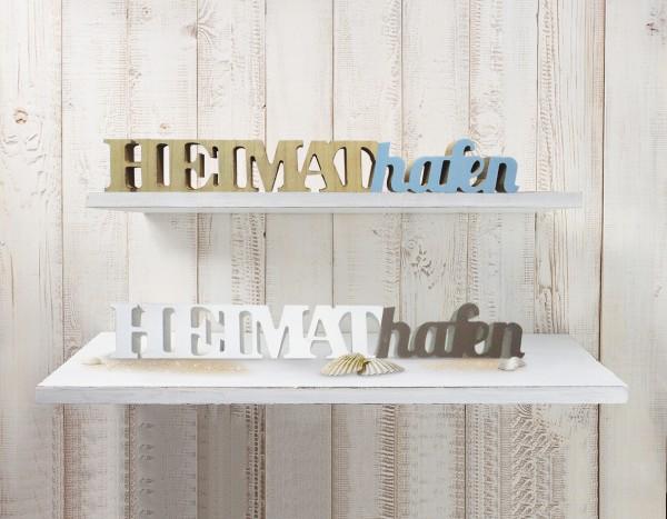 """Schriftzug """"Heimathafen"""""""