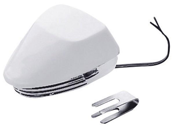 Membranhorn aus ABS weiß-chrom