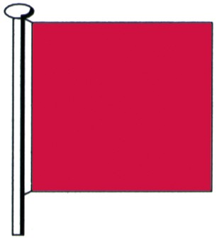 Notflagge rot